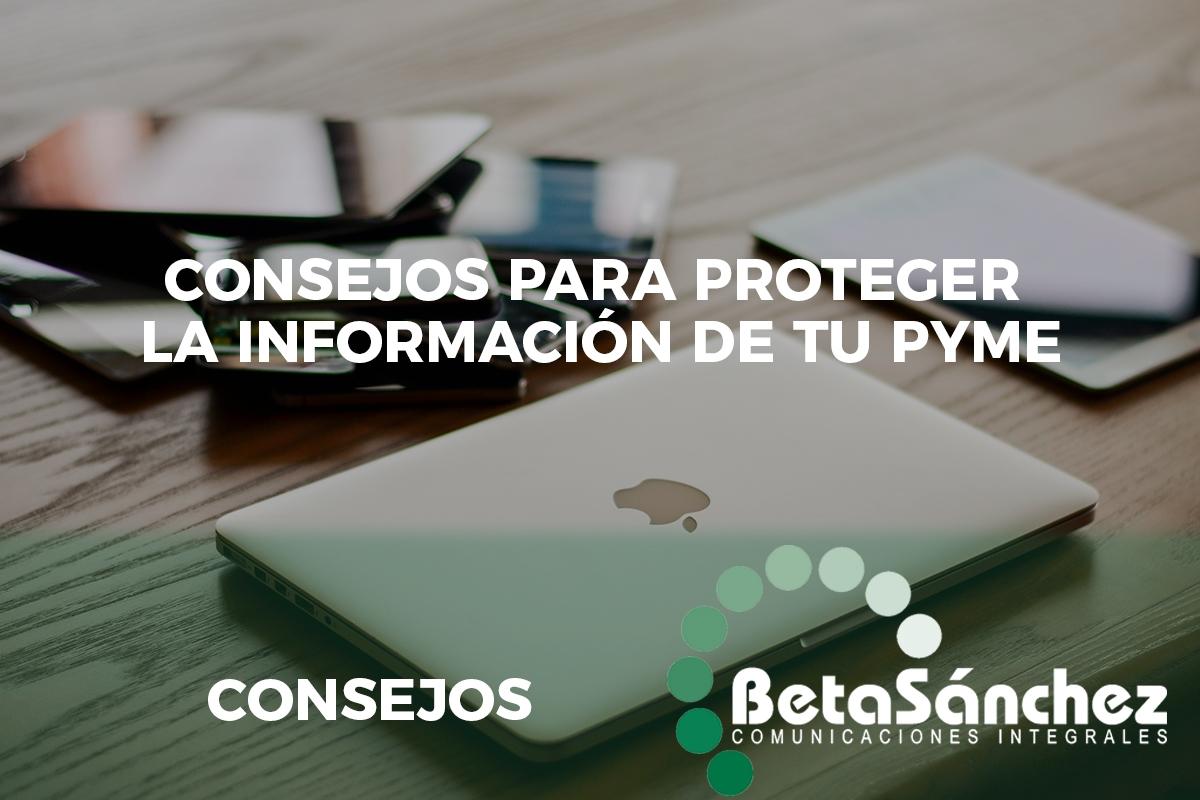 Consejos protección información PYME